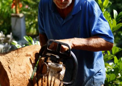 Arbeitsimpressionen Giorgio Skulpturen Engel (4)