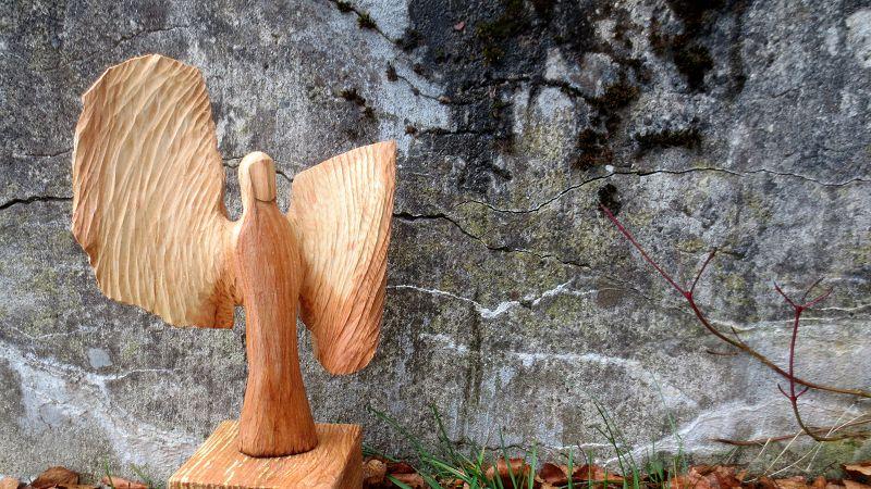 Engel der Segnung - Esche 27x21