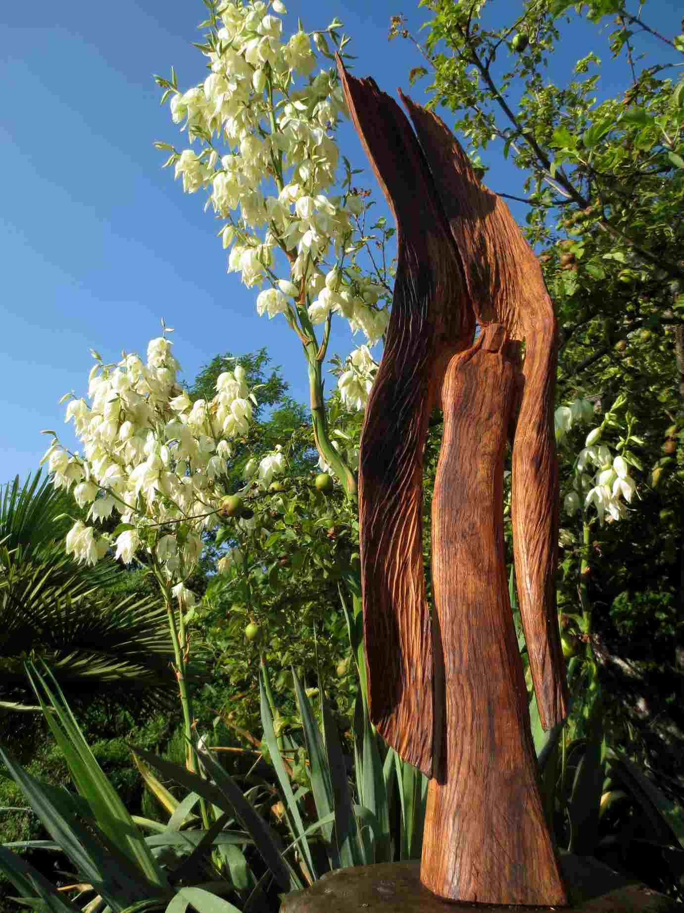 Engel aus kastanienholz giorgio kunst beflügelt meine seele